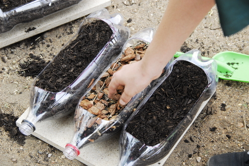 Soil erosion experiment life is a garden for Soil and plant lab