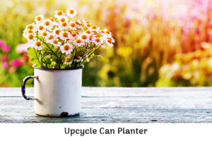 Upcycle can planter